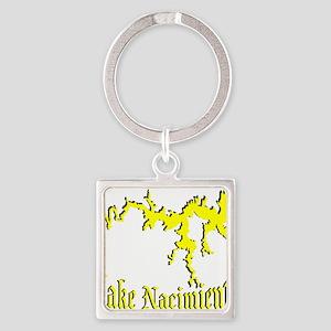 LAKE NACIMIENTO [4 yellow] Square Keychain